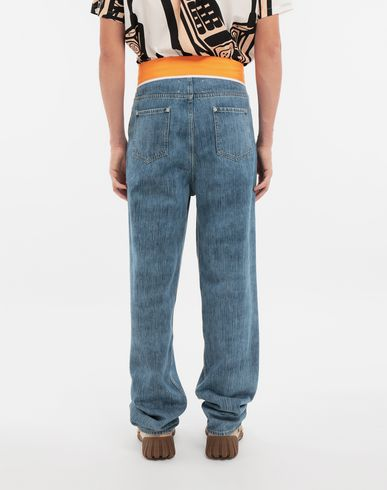 PANTS Spliced denim pants