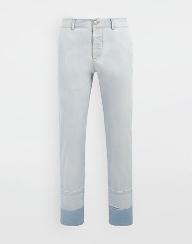 PANTS Bleached indigo denim pants