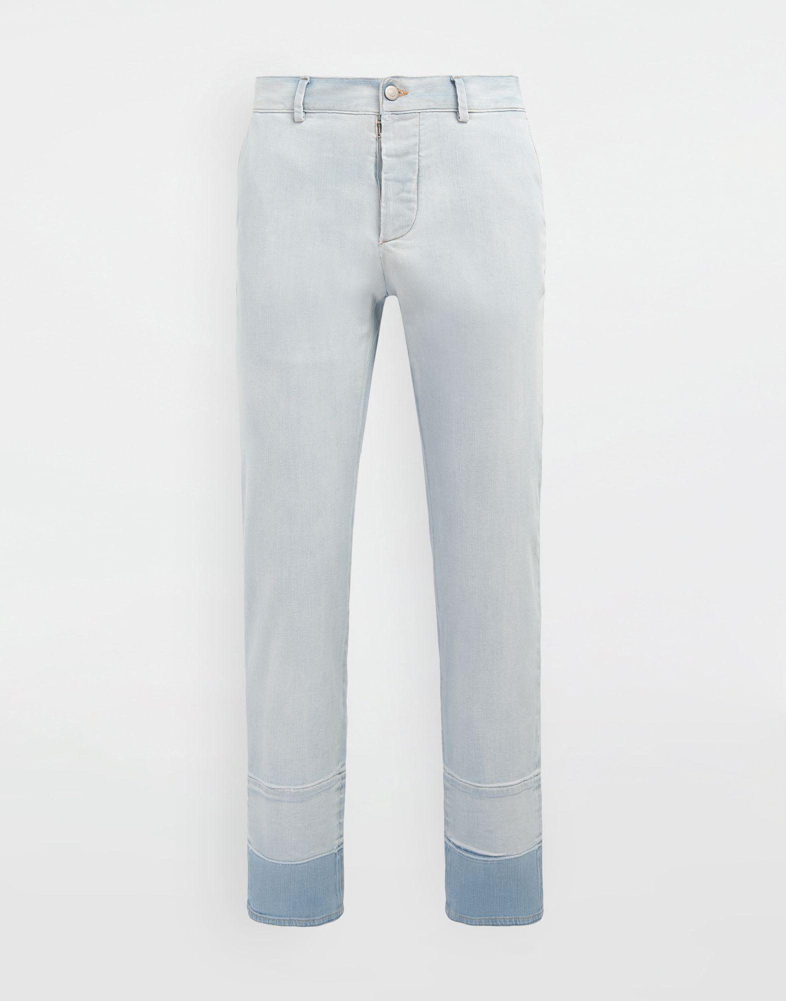 MAISON MARGIELA Bleached indigo denim pants Casual pants Man f