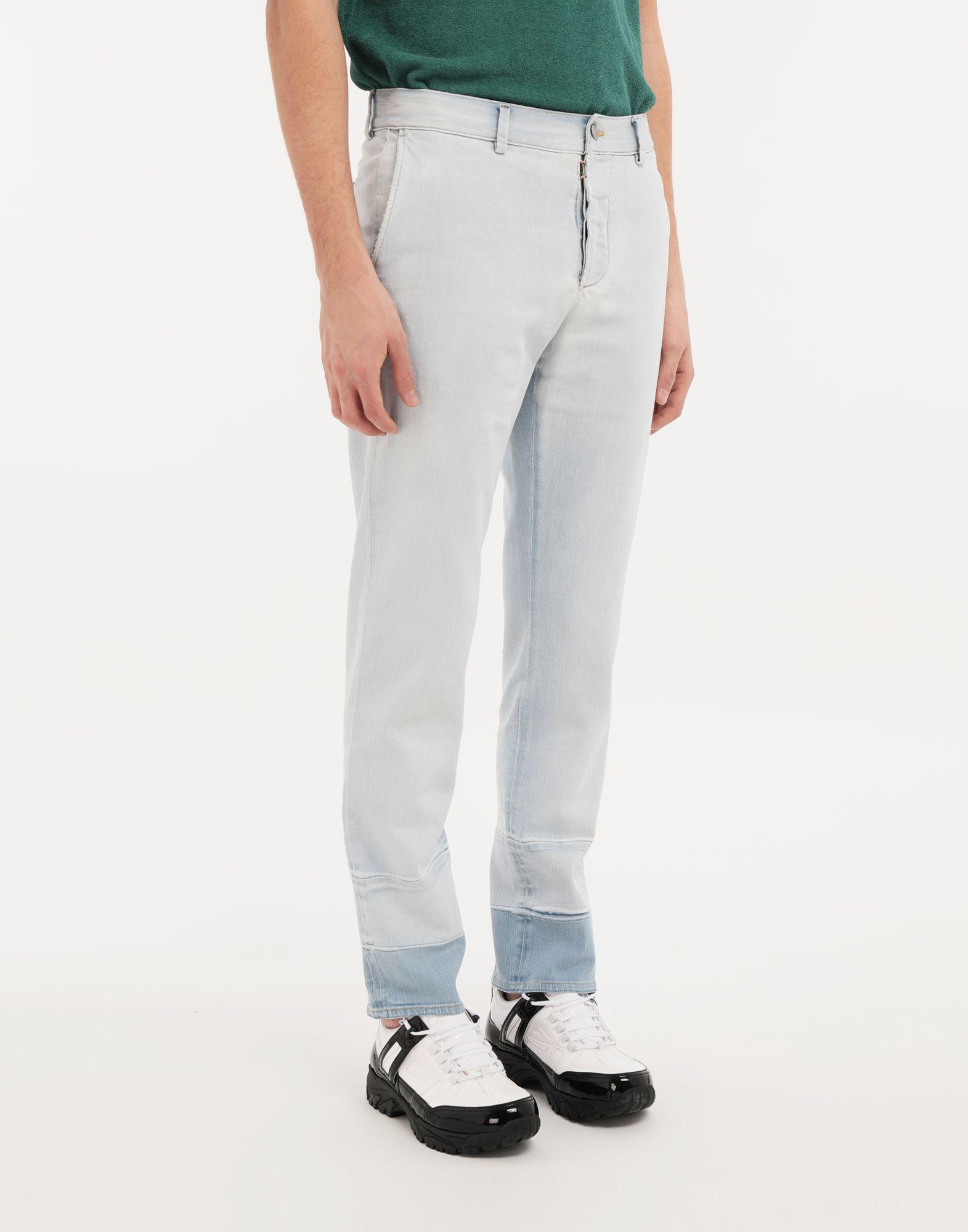 MAISON MARGIELA Bleached indigo denim pants Casual pants Man r