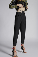 DSQUARED2 Stretch Wool 80's Pants Trousers Woman