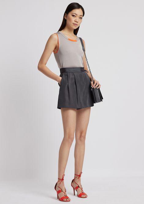 Falda pantalón de tejido técnico con cierre lateral