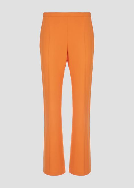 Trousers in tech crepe cady