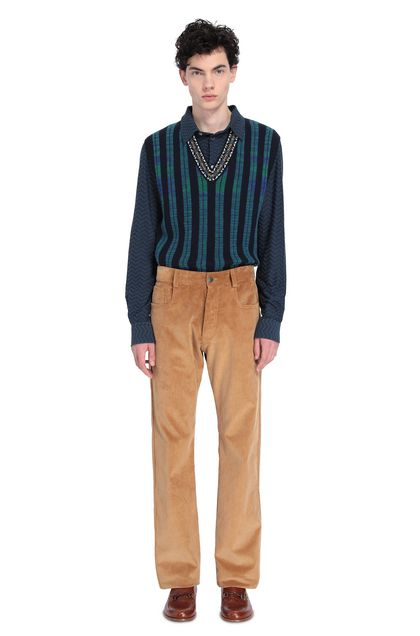MISSONI Pants Camel Man - Front