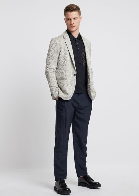 Pantalones de viscosa y lino