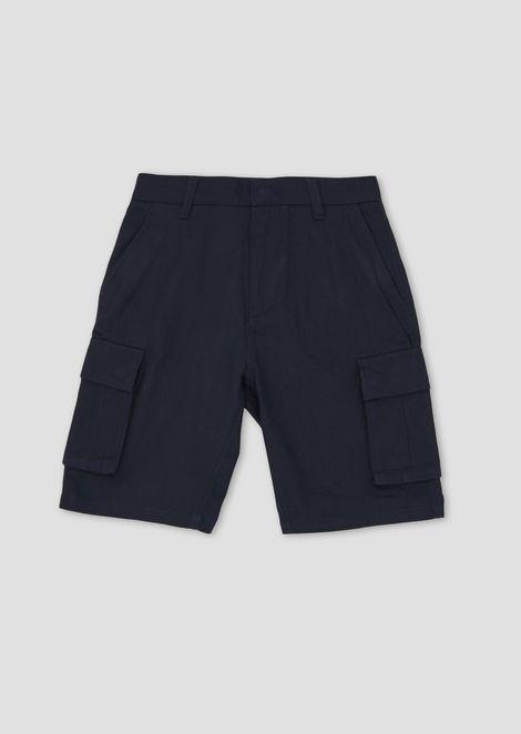 Cargo Bermuda shorts in cotton