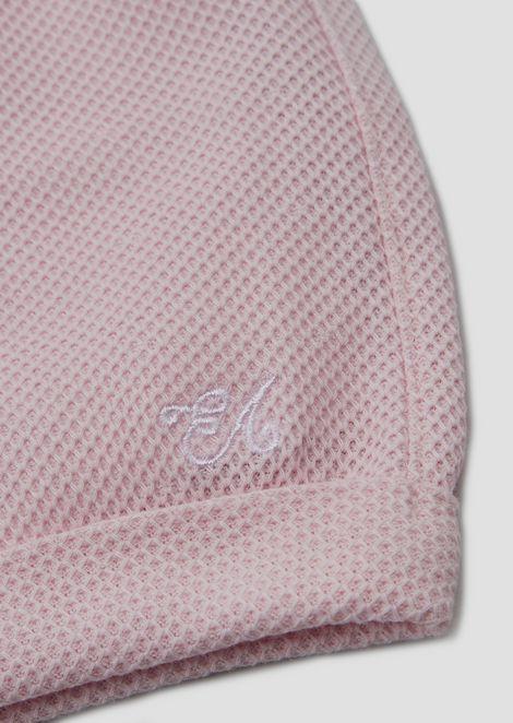Pantalones cortos en punto panal de algodón