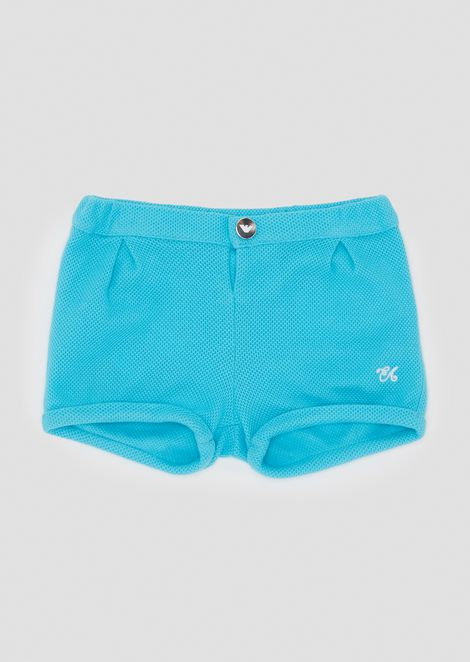 Shorts in soft honeycomb cotton