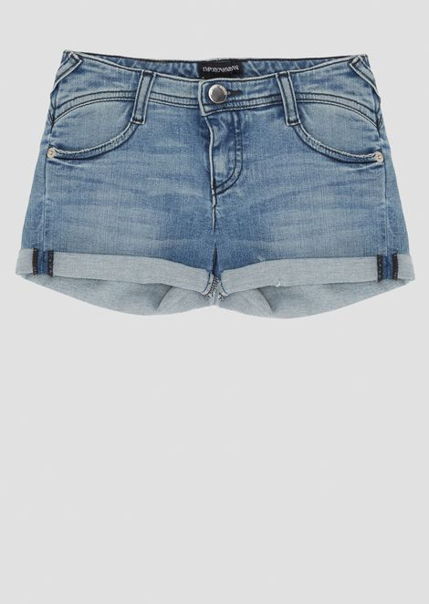 Denim shorts with turn-ups