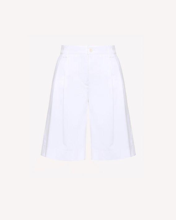 REDValentino Cotton gabardine Bermuda shorts