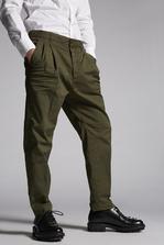 DSQUARED2 Cotton Two Pleats Pants Trousers Man