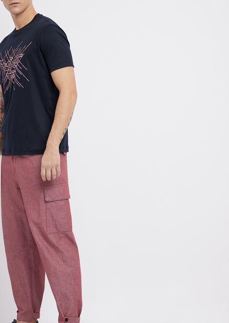 Pantalones deportivos de sarga efecto denim