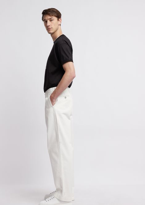 Oversized cotton bull pants