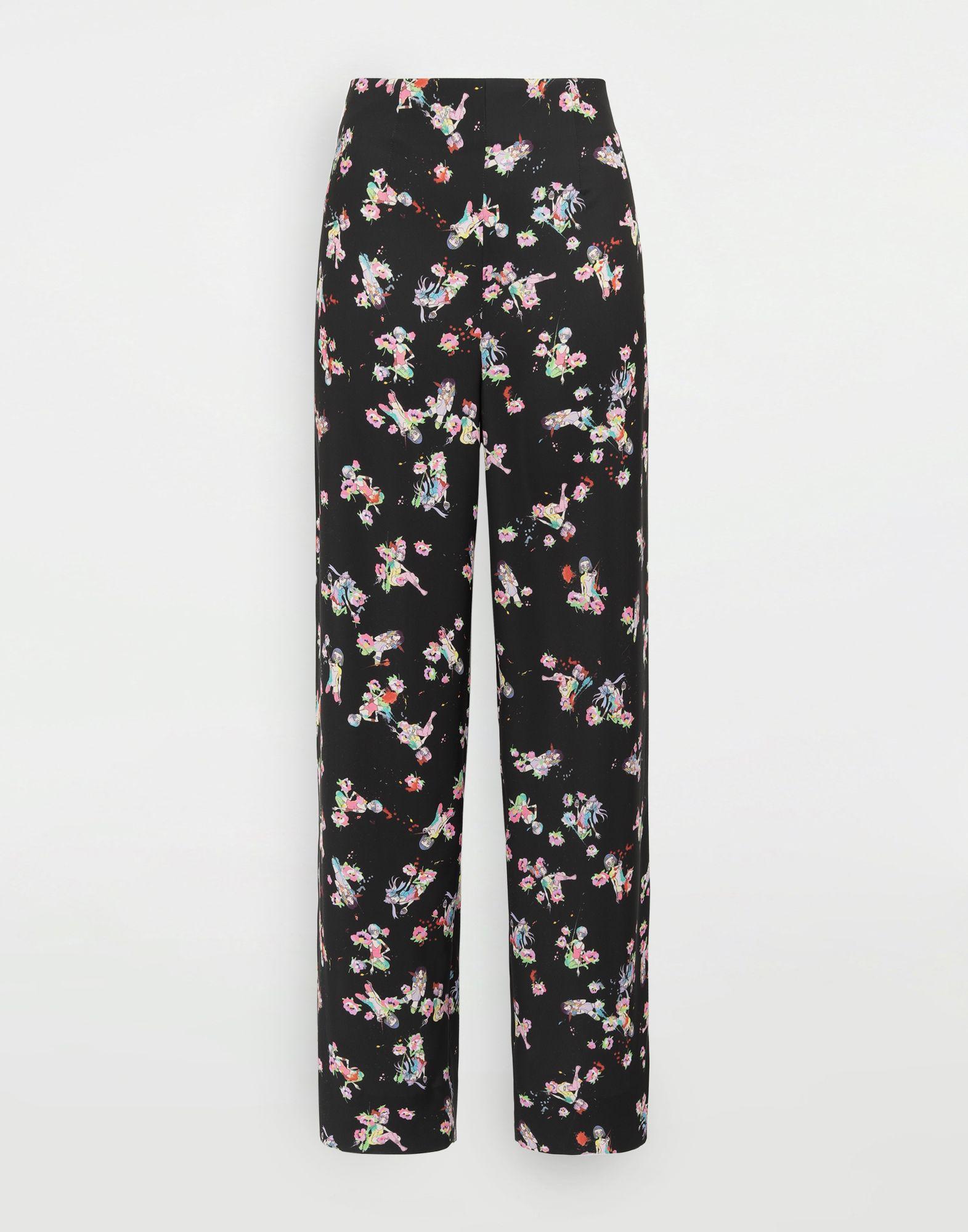 MAISON MARGIELA Kawaii-print pants Trousers Woman f