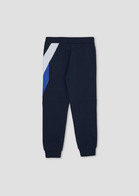 Soft cotton jogging pants with contrasting details