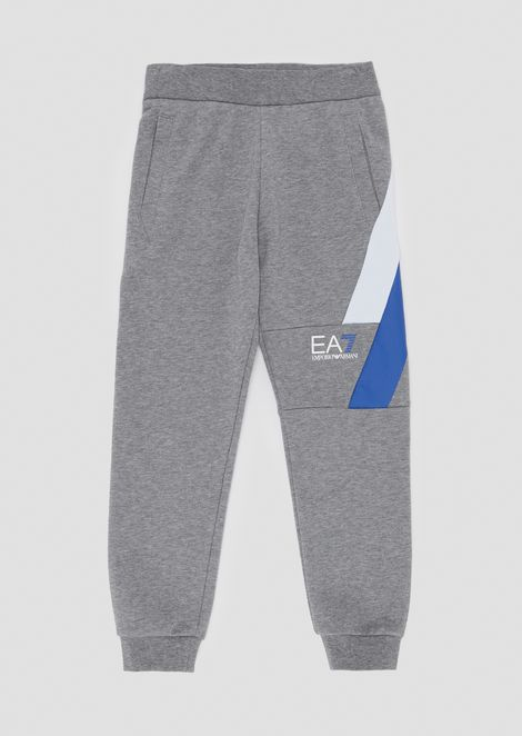 Soft cotton jogging trousers with contrasting details