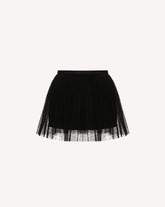 REDValentino Point d'Esprit Tulle pleated shorts