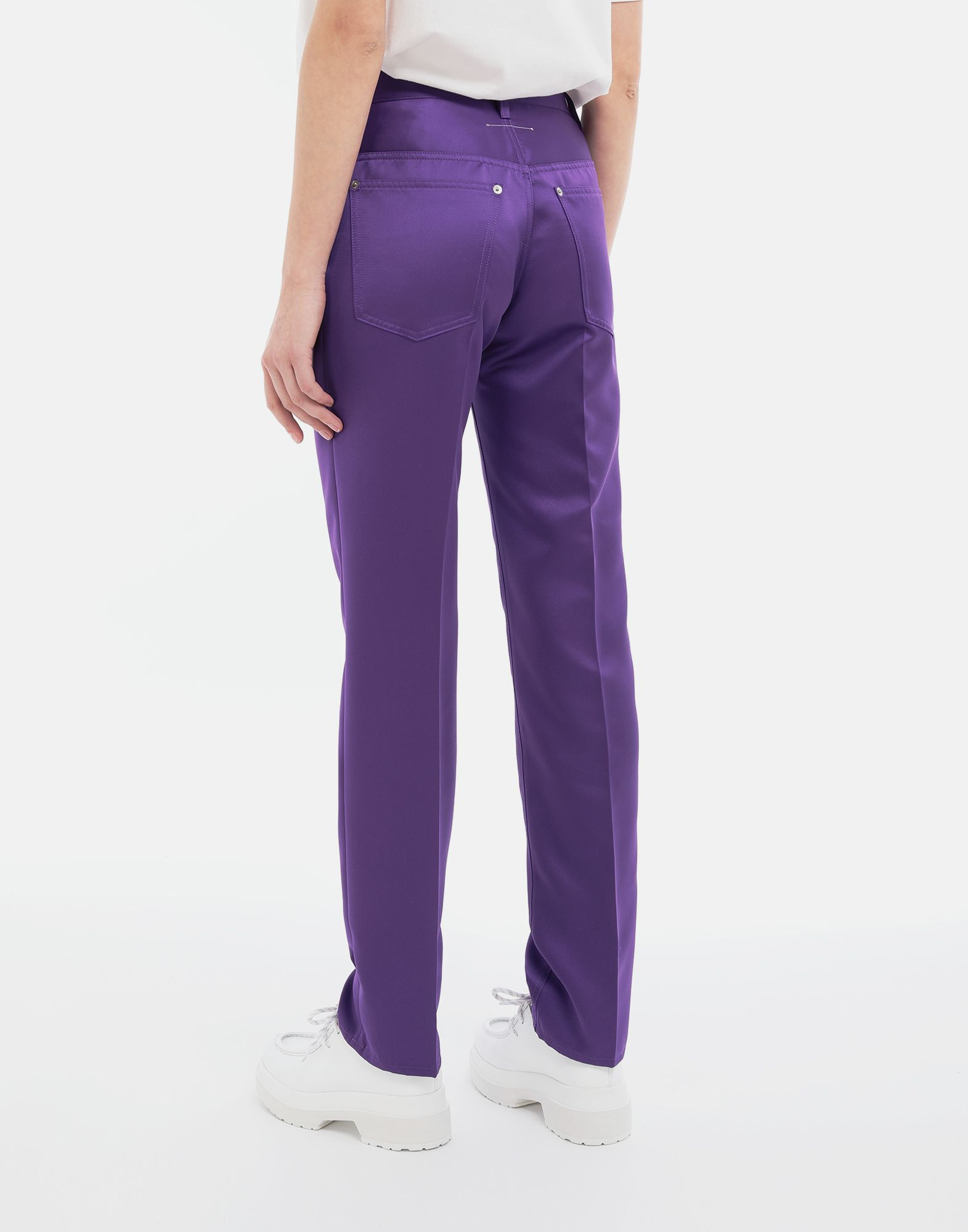 MM6 MAISON MARGIELA High-waisted trousers Casual pants Woman e