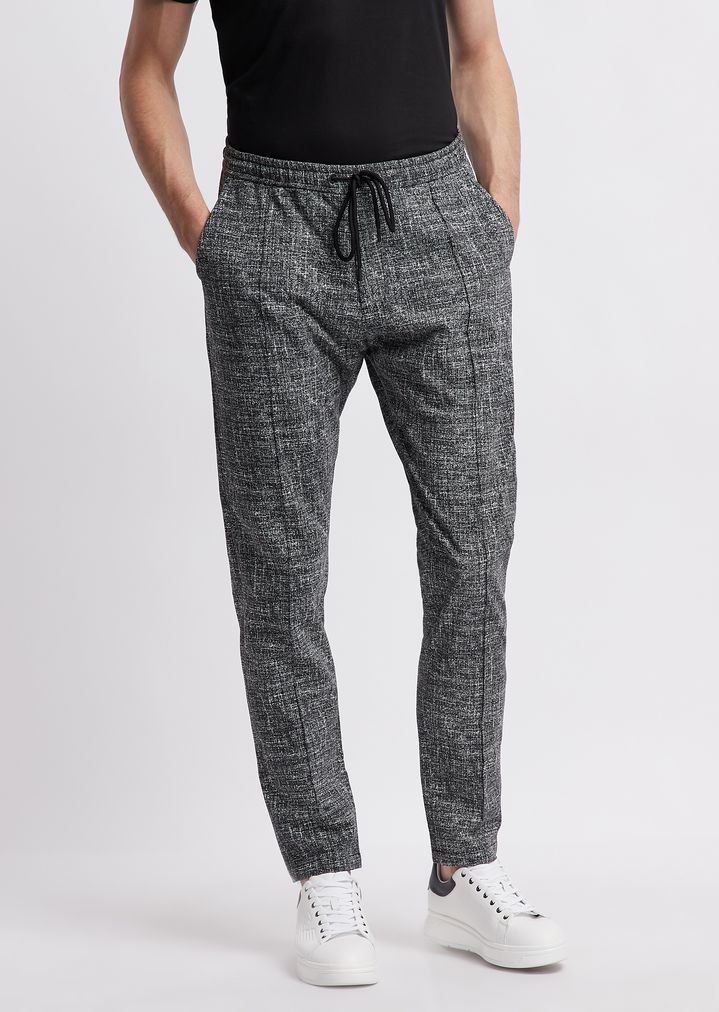 pretty cool cheapest price outlet store sale Pantalon de jogging en seersucker à imprimé tweed | Homme ...