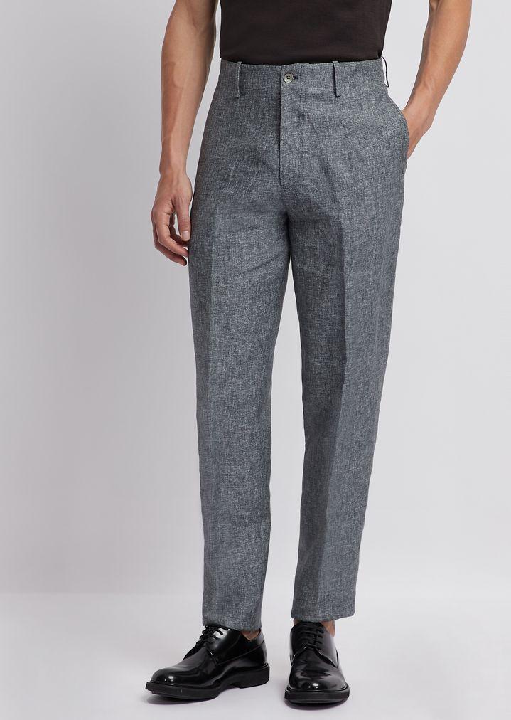 quality design 130c2 96f30 Pantaloni in puro lino | Uomo | Emporio Armani
