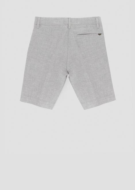 Pure linen Bermuda shorts