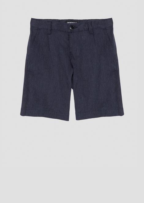 Linen blend Bermuda shorts