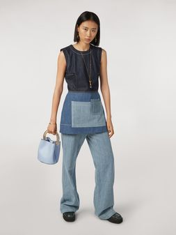 Marni Indigo denim drill 5-pocket pants Woman