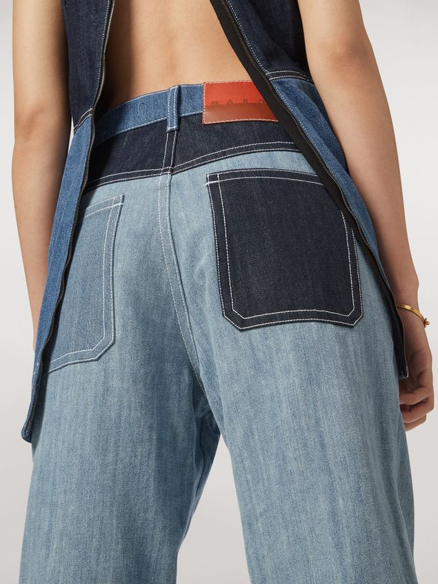 Marni Indigo denim drill 5-pocket pants Woman - 4