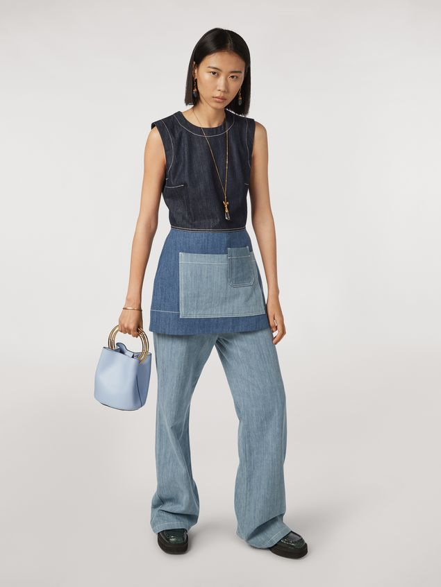 Marni Indigo denim drill 5-pocket trousers Woman - 1