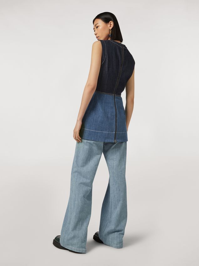Marni Indigo denim drill 5-pocket trousers Woman - 3