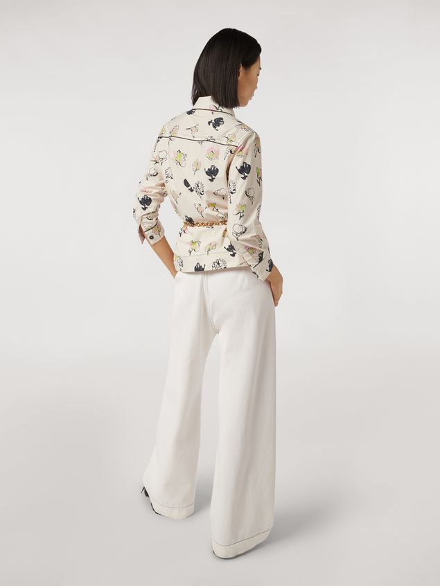 Marni Trousers in raw cotton drill Woman