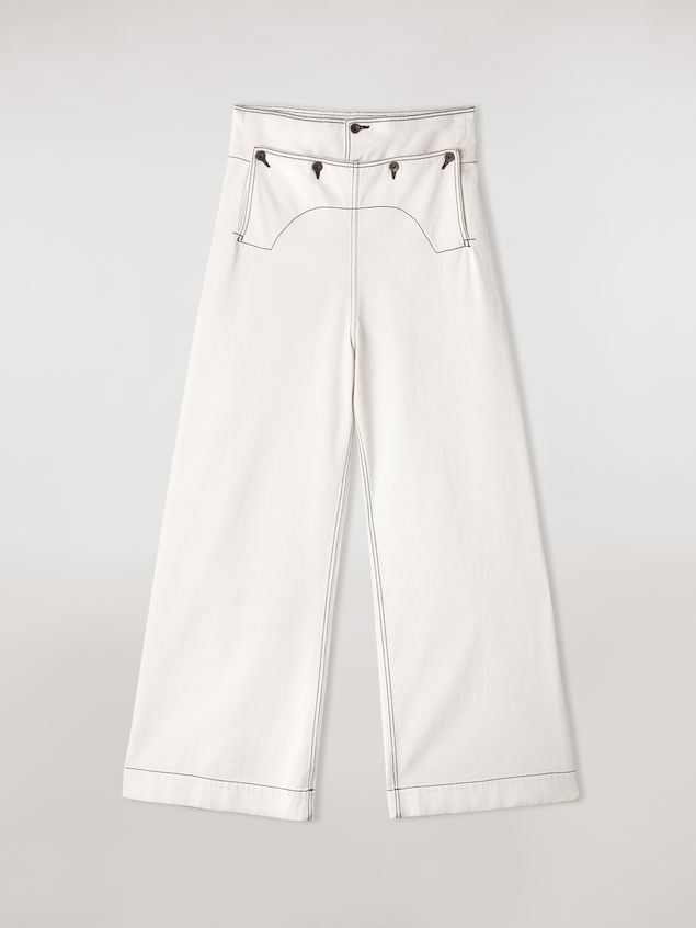Marni Trousers in raw cotton drill Woman - 2