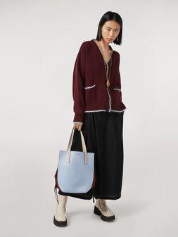 Marni Criss-cross tropical wool trousers black Woman