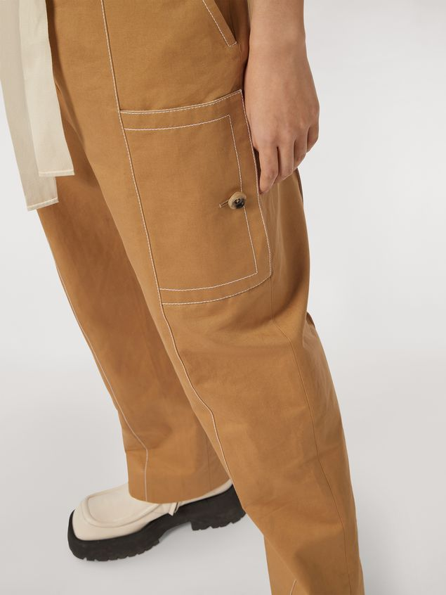 Marni Cotton and linen drill trousers with maxi pockets Woman - 5