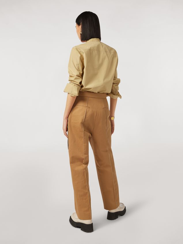 Marni Cotton and linen drill trousers with maxi pockets Woman - 3