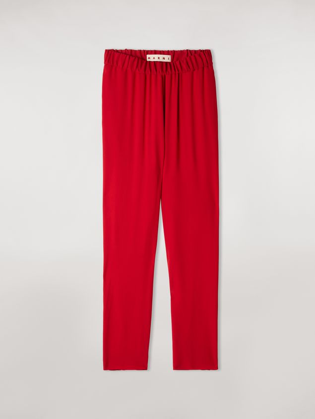 Marni Trousers in crepe envers satin with contrast topstitching Woman - 2