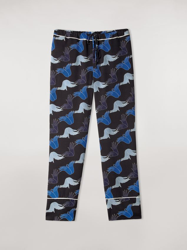 Marni Viscose sablé trousers Prelude print by Bruno Bozzetto Woman - 2