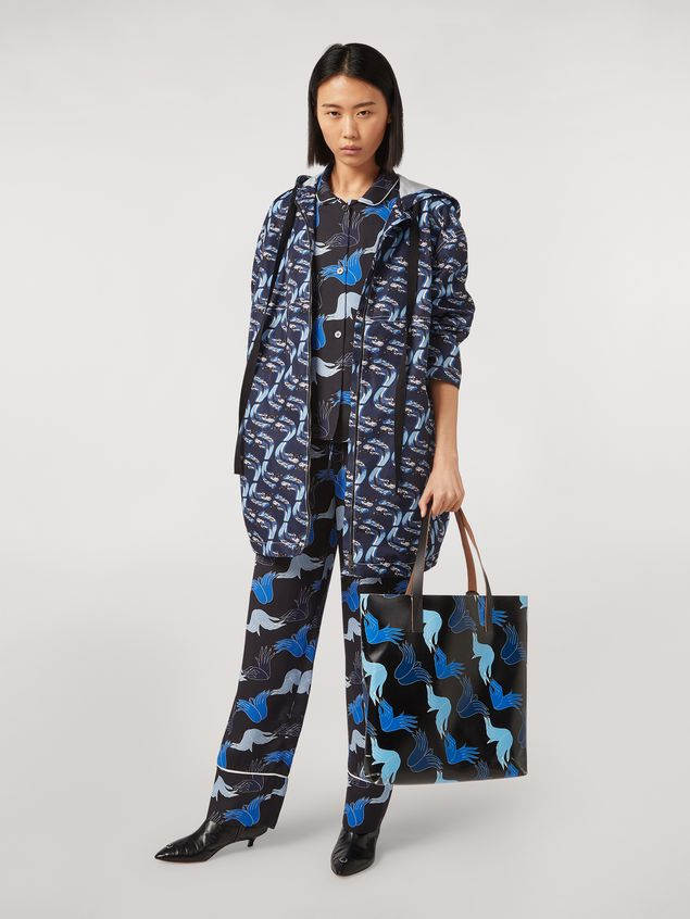 Marni Viscose sablé trousers Prelude print by Bruno Bozzetto Woman - 1