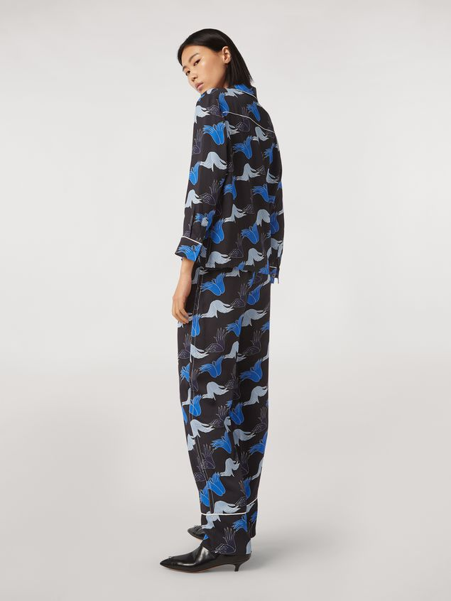 Marni Viscose sablé trousers Prelude print by Bruno Bozzetto Woman - 3