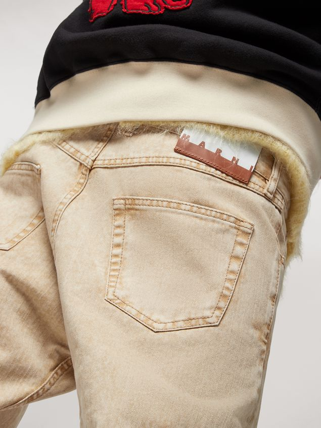 Marni Pantalones 5 bolsillos de denim sobreteñido  Hombre - 4