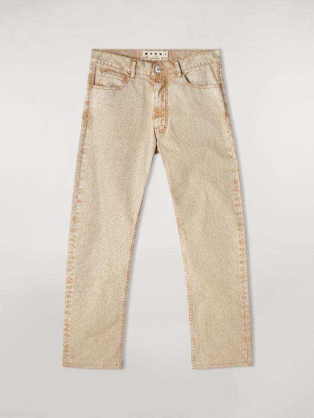Marni Pantalones 5 bolsillos de denim sobreteñido  Hombre - 2
