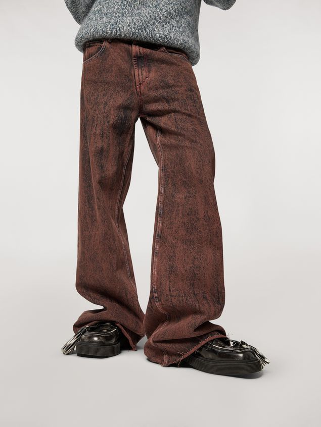 Marni 5-pockets over-dyed bleached denim pants Man - 5