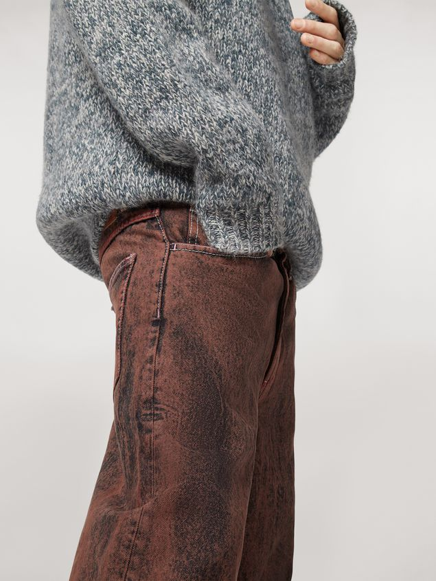 Marni 5-pockets over-dyed bleached denim pants Man - 4