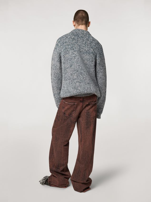 Marni 5-pockets over-dyed bleached denim pants Man - 3