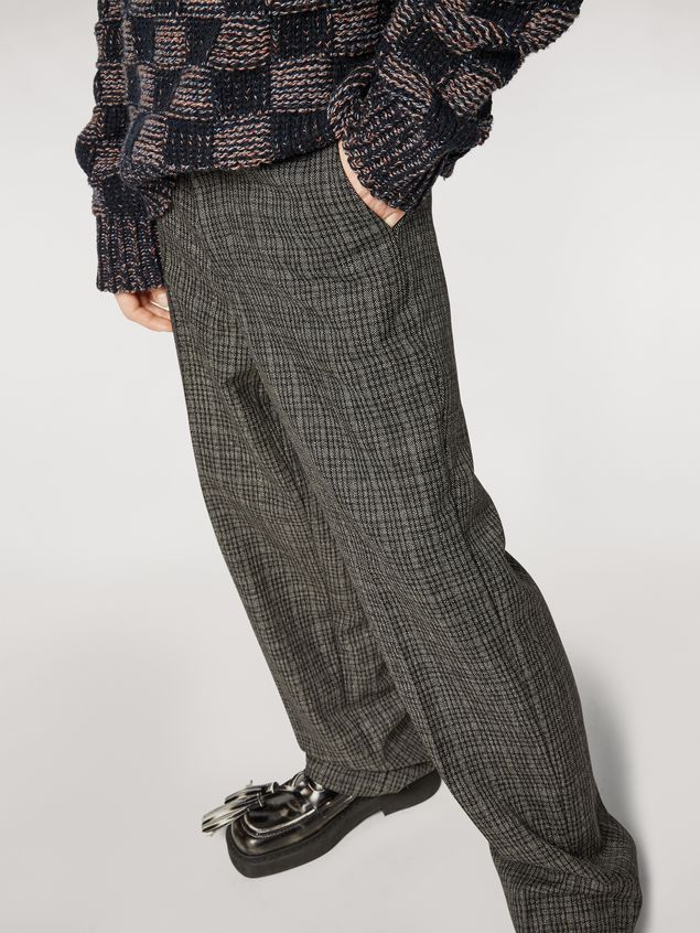 MARNI Trouser Man Woollen micro-check trousers a
