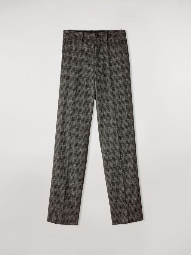 Marni Woollen micro-check trousers Man - 2