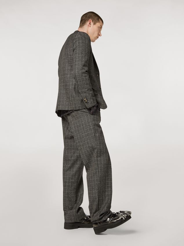 Marni Woollen micro-check trousers Man - 3