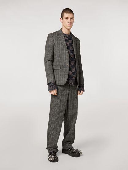 Wool Micro Check Pants by Marni