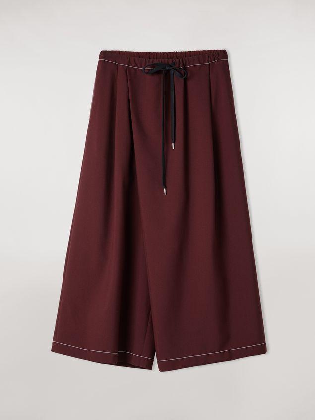Marni Criss-cross tropical wool trousers burgundy Woman - 2