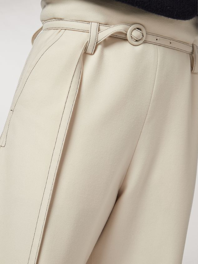 Marni Twisted wool flannel trousers Woman - 4